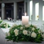 Pyrgos restaurant Central Hall candles
