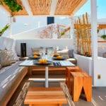 Pyrgos Restaurant Garden Hall couch