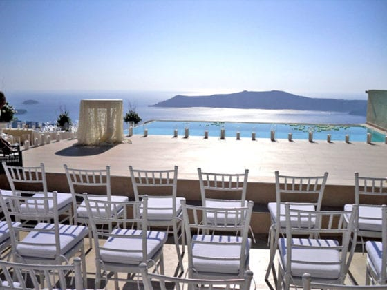 La Maltese Santorini Wedding Wedding Venue wide view