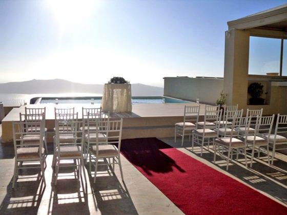 La Maltese Santorini Wedding Wedding Venue carpet