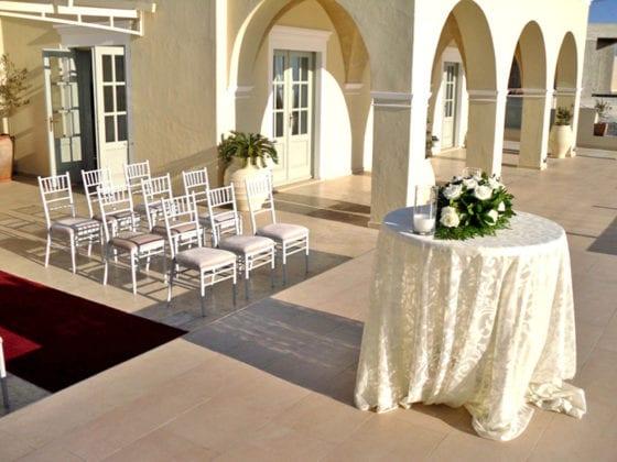 La Maltese Santorini Wedding Wedding Venue Villa upstairs