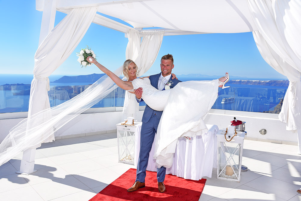 Santo winery wedding venue in Santorini Greece