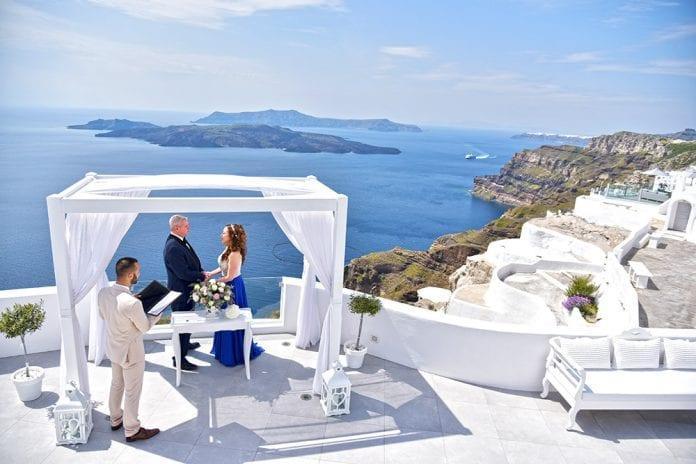 Santorini Wedding Vows Renewal