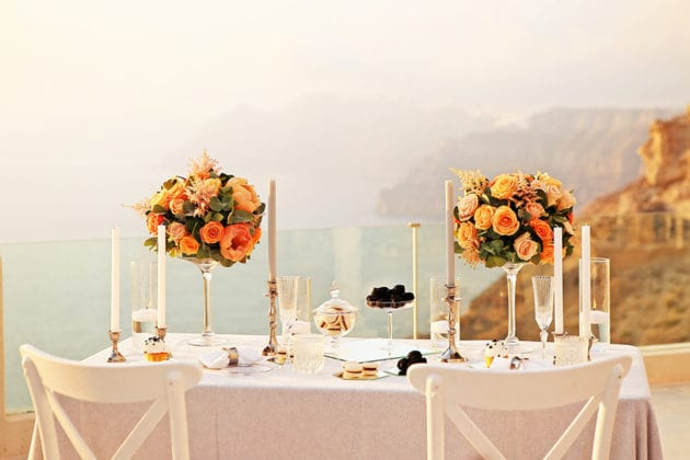 El Viento Santorini Wedding Venue floral