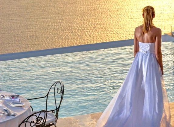 La Maltese Estate Santorini Wedding Venue Pool