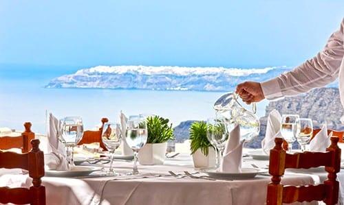 Pyrgos Restaurant Wedding Venue Santorini