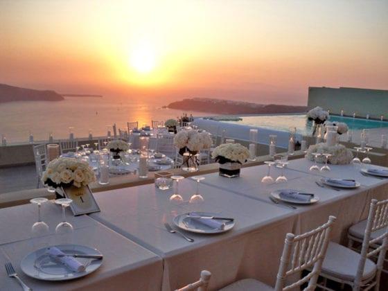 La Maltese Santorini Wedding Wedding Venue Sunset