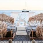 Akro Santorini Wedding Venue aisle