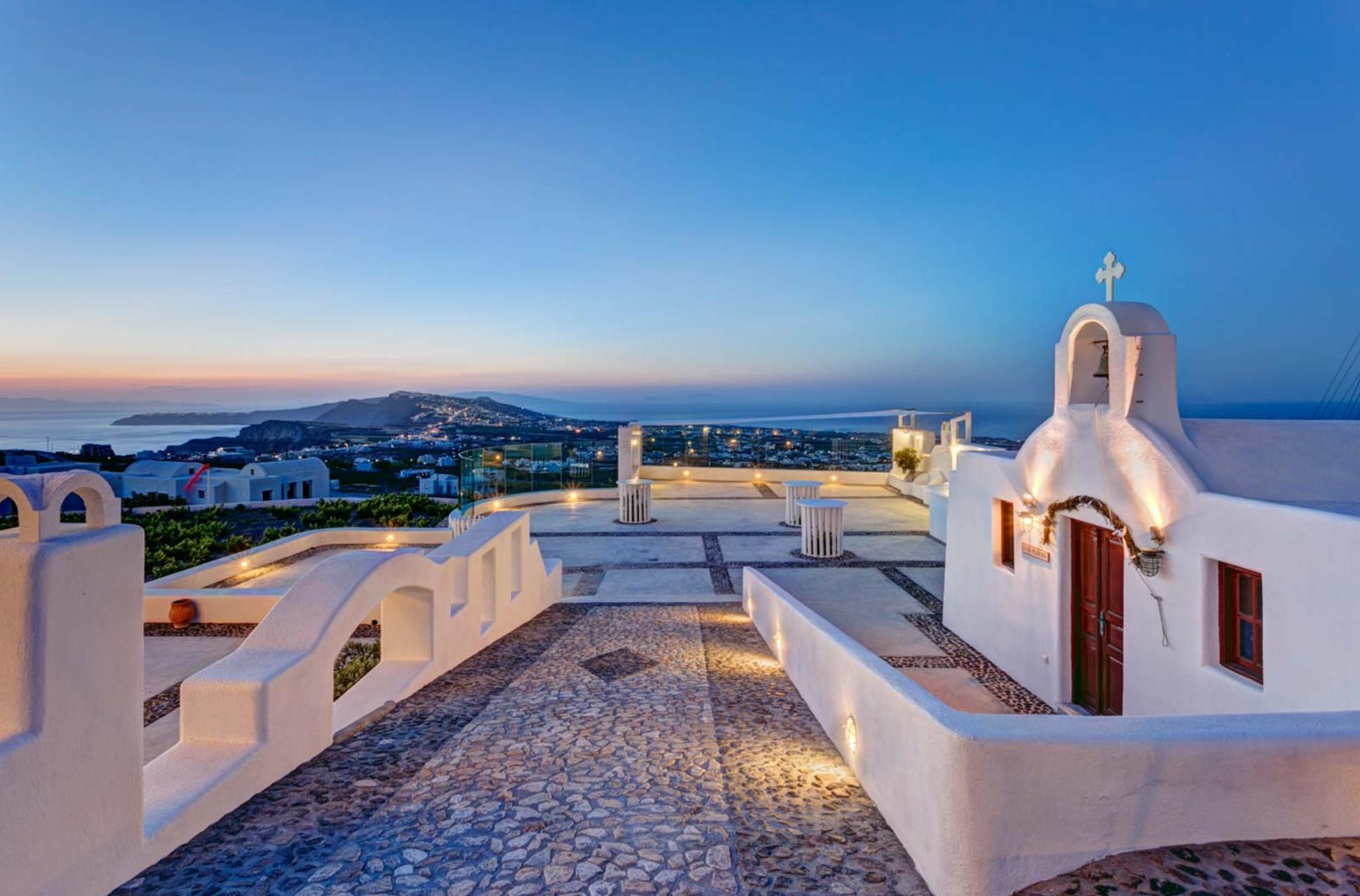 Pyrgos Santorini wedding venue chapel