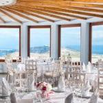 Santorini Wedding Pyrgos Restaurant Agia Fotini beautiful setting