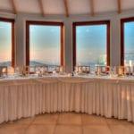 Santorini Wedding Pyrgos Restaurant Agia Fotini tables