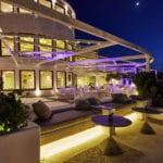 Santorini Wedding Pyrgos Restaurant Agia Fotini night
