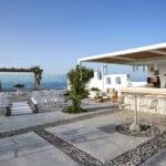 Santorini Wedding Pyrgos Restaurant Agia Fotini gazebo bar