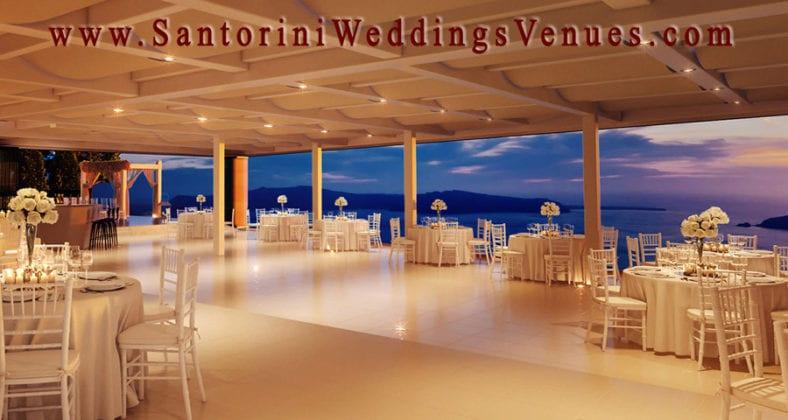 Le Ciel Santorini Wedding Venue table view