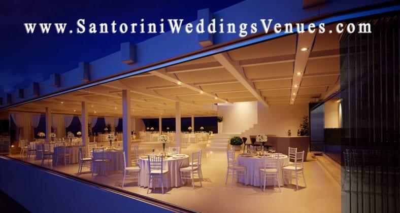 Le Ciel Santorini Wedding Venue night view