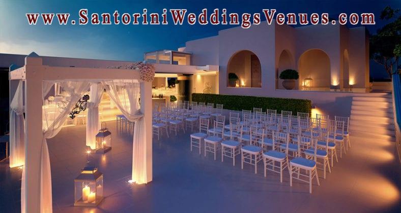 Le Ciel Santorini Wedding Venue night