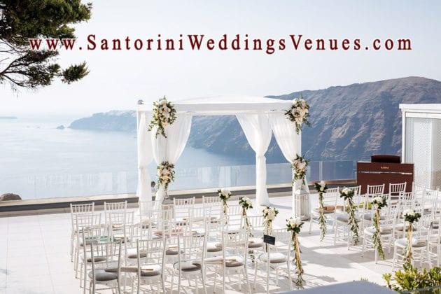 Le Ciel Santorini Wedding Venue view