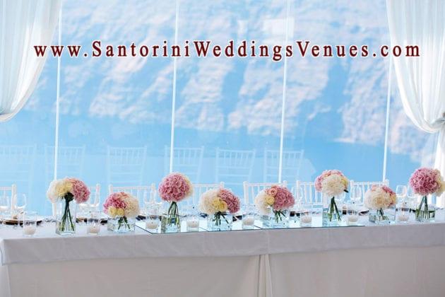 Le Ciel Santorini Wedding Venue floral