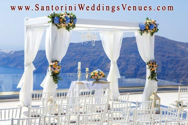 Le Ciel Santorini Wedding Venue gazebo