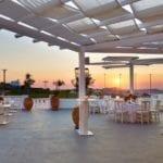 Pyrgos Restaurant Santorini Weddings Veranda Panorama