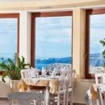 Pyrgos Restaurant Santorini Weddings Inside Panorama