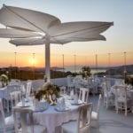 Pyrgos Restaurant Santorini Weddings Veranda