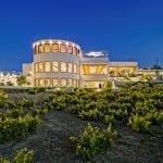 Pyrgos Santorini Wedding Venue Halls outside area