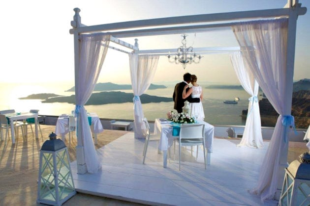 Santorini Gem Wedding Venue view