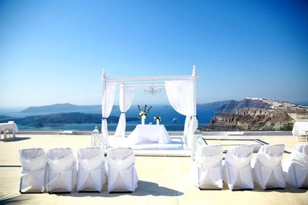 Santorini Gem Wedding Venue gazebo
