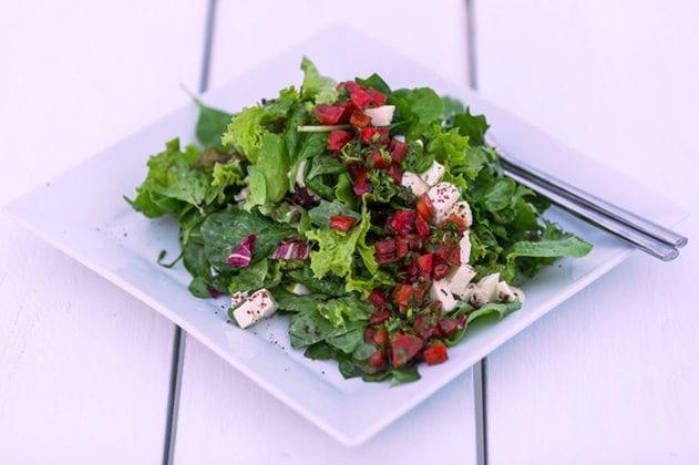 Santorini Gem Wedding Venue salad