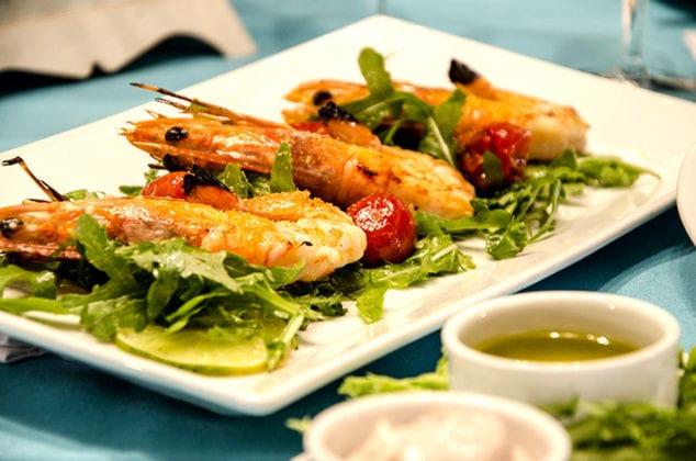 Santorini Gem Wedding Venue shrimps