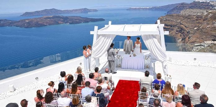 Santo Winery Wedding Venue Santorini