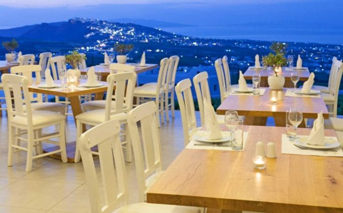 Santorini Wedding Pyrgos Restaurant Small Private Hall