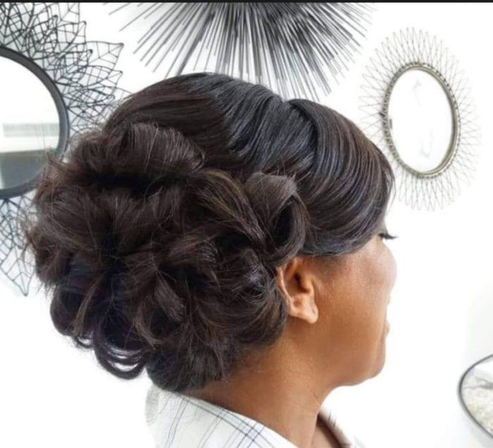 Santorini Wedding Bridal Hair Style l3