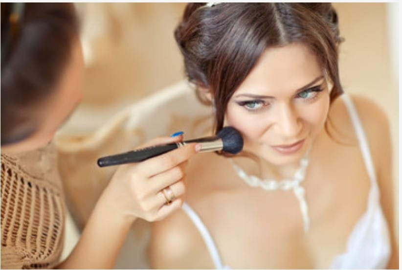 Santorini Wedding Bridal Makeup