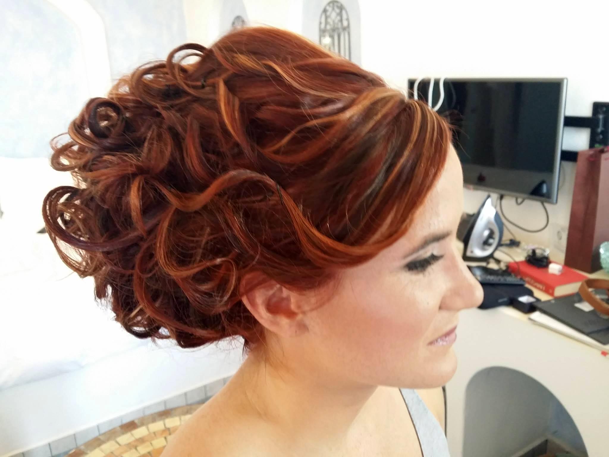 Santorini Wedding Bridal Hair Style 11