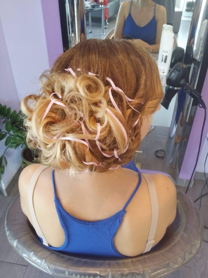 Santorini Wedding Bridal Hair Style 14