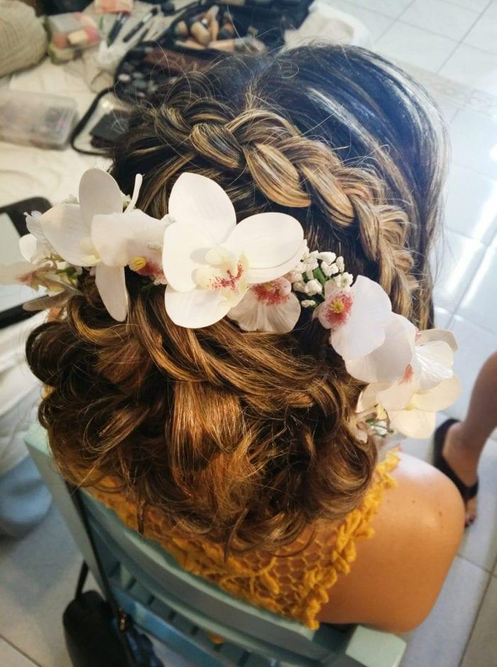 Santorini Wedding Bridal Hair Style 15
