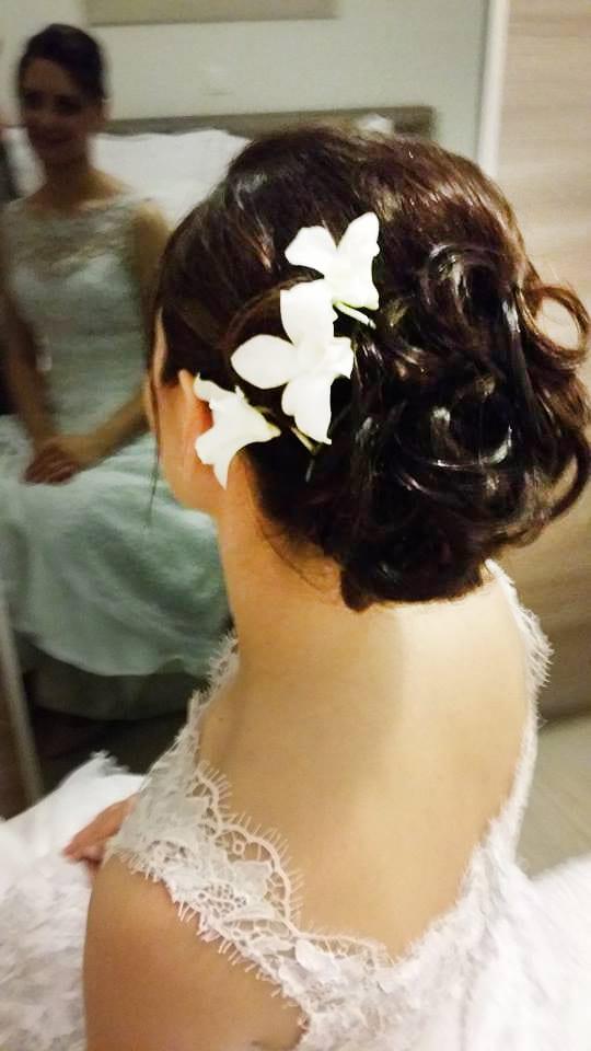 Santorini Wedding Bridal Hair Style 21