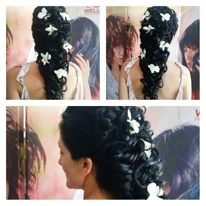 Santorini Wedding Bridal Hair Style 3