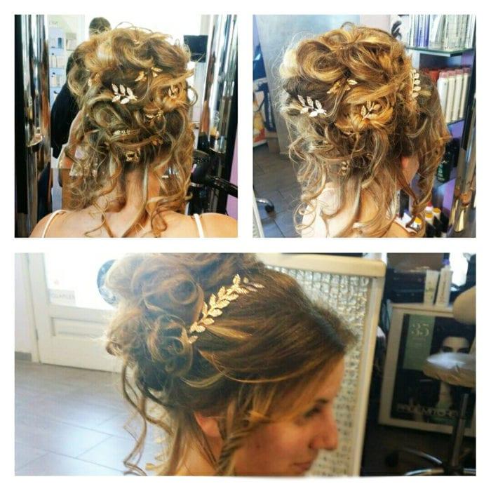 Santorini Wedding Bridal Hair Style 7