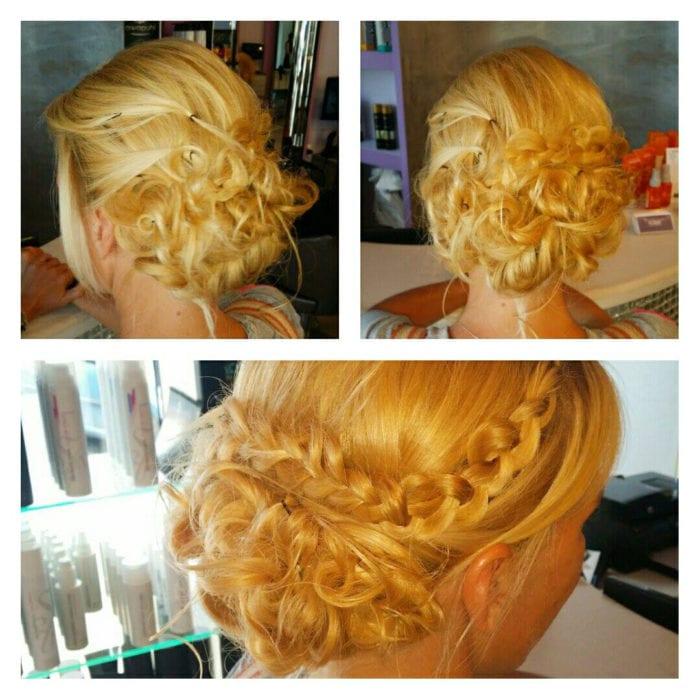 Santorini Wedding Bridal Hair Style 8