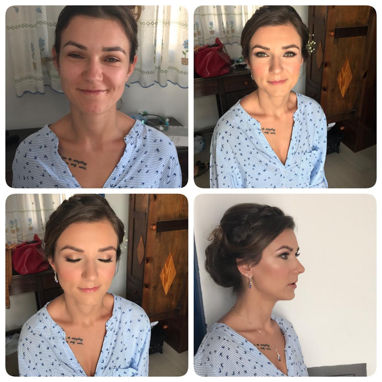 Santorini Wedding Bridal Makeup 05