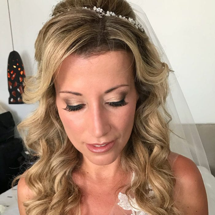 Santorini Wedding Bridal Makeup 8